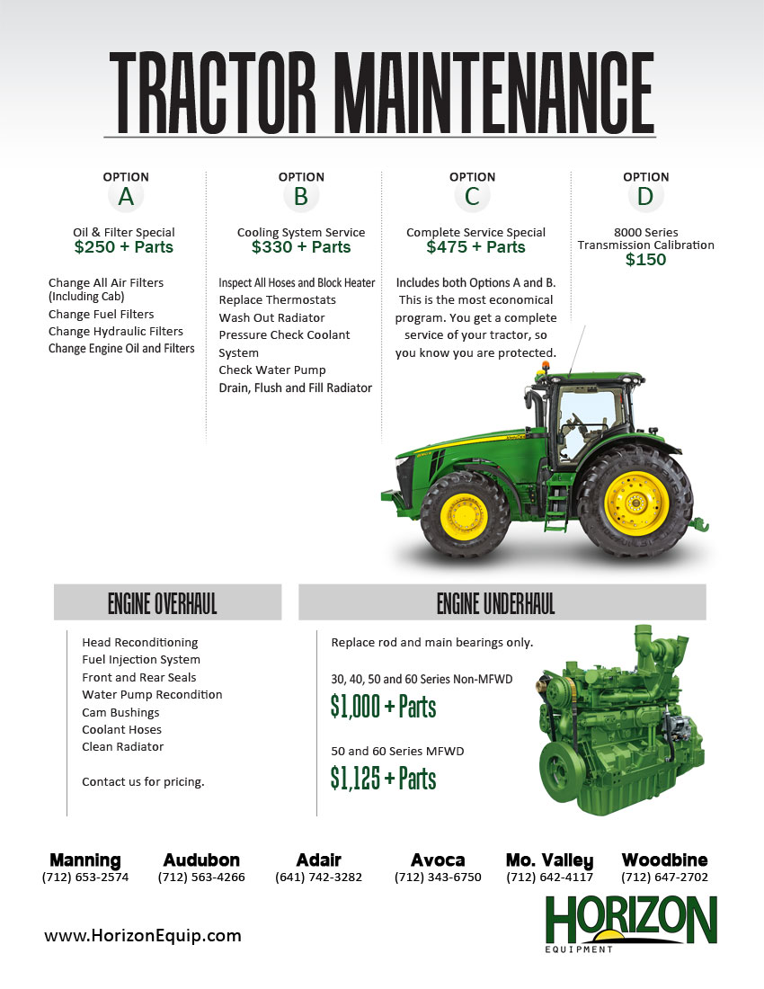 Tractor Maintenance Fuel Filters Service