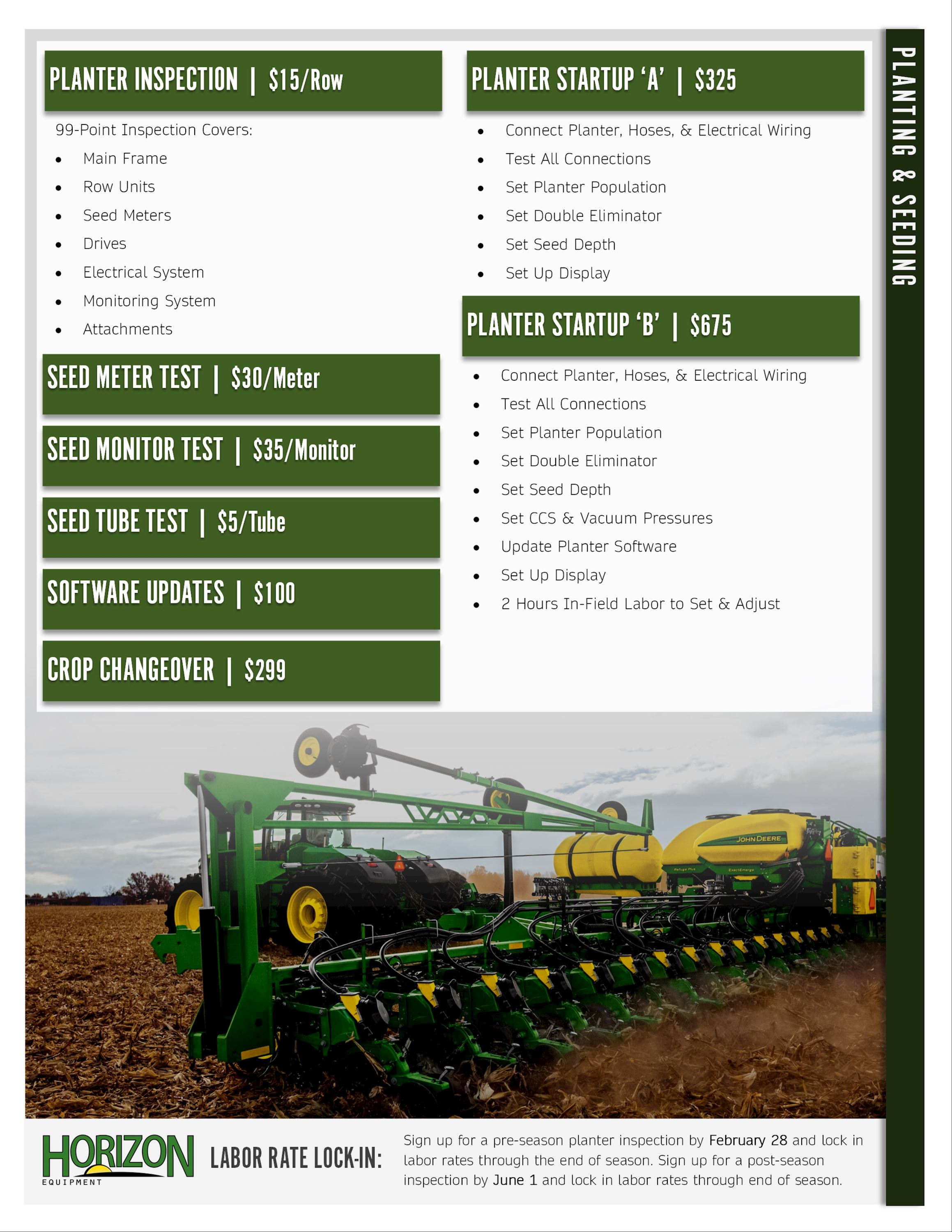Planting Service Packages