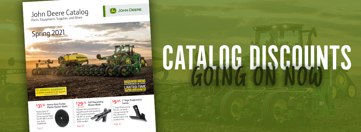 Spring Parts Catalog Discounts, Going on Now!